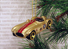 CUNNINGHAM C4R GOLD RED RACE CAR RACING CHRISTMAS ORNAMENT XMAS