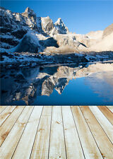 Winter Digital Photography Background Hills Scenic Photo Backdrop Canvas 5x7ft