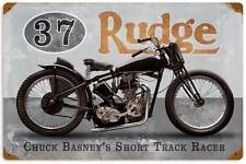 Rudge Racer Chuck Basney Vintage Metal Motorcycle Racing Sign Wall Decor FRC073