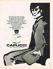 PUBLICITE  1974   CAPUCCI   ligne compléte pour hommes parfums