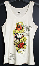 New Disney World Parks MICKEY MOUSE Rose Tattoo Tank Top Misses 1X