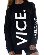 TIALS This Is A Love Song Vice President Black White Sweatshirt Top New S