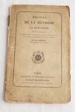 DESCARTES  DISCOURS DE LA METHODE 1868