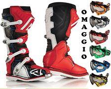 STIVALI MOTO CROSS ENDURO ACERBIS X-PRO V.BOOTS RED WHITE ROSSO VIBRAM TG 44
