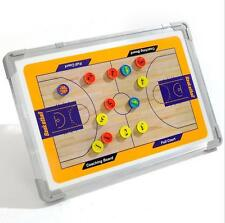 Two-sided Magnetic Basketball Coaching Tactics Board Board Tactical Kit 45X30CM