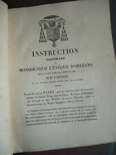 INSTRUCTION PASTORALE DE MONSEIGNEUR L'EVEQUE D'ORLEANS SUR L'EGLISE 1848