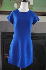 NWT J Crew Double Faced Wool Crepe Dress 6 Small S 02805 $228 Blue