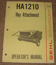 GEHL Company HA1210 Hay Attachment  Operator Manual