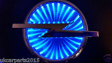 BLUE Logo OPEL Vectra Corsa Insignia Badge Light Led Emblem 3d shelfAdhesive