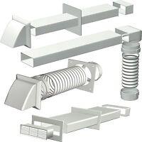 Cooker Hood Extractor Ducting Kits & Connectors 125mm diameter, 150-204mm Chanel