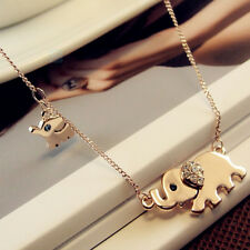 New Fashion Elephant Pendant Chain Choker Gold Necklace Women Lady Jewelry Gift