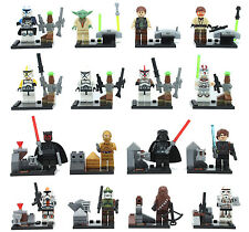 16 pcs Starwars C-3PO Darth Vader Clone Trooper Custom Mini Figure Custom Lego