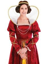 Queen Elizabeth Medieval Tudor Deluxe  Ladies Fancy Dress Costume 10-14