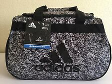ADIDAS Diablo Small Duffel Oblivion White/Black Unisex Gym bag luggage Hex Print