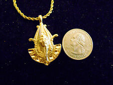 bling gold plated ancient egyptian pharaoh Charm hip hop chain Necklace jewelry