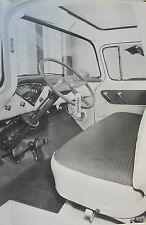 "12 By 18"" Black & White Picture 1955 Chevrolet Truck Deluxe Cloth Interior"