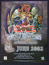 "Yu Gi Oh TCG Promotional Poster Metal Raiders June 2002 24""x18"""