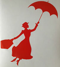 Mary Poppins Flying Umbrella Sticker New Decal Choice of Colour Vinyl Wall Art