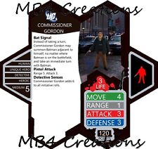 Heroscape Custom Commissioner Jim Gordon DC Figure with Double-Sided Card