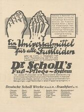 Y6126 Dr. Scholl's fuß Pflege System - Pubblicità d'epoca - 1925 Old advertising