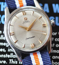 Vintage 1957 Omega Seamaster Watch Cal 501 Automatic Sunburst Dial Runs Strong!