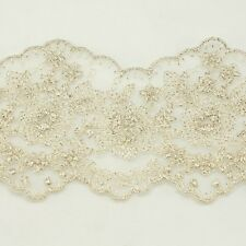 Unique Metallic Embroidered Venise Lace Trim #295 - Bridal Wedding Lace Trim