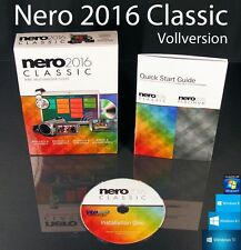 Nero 2016 Classic Vollversion Box, CD, Handbuch Multimedia Brennsoftware OVP NEU