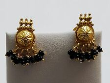 22 KARAT , 916 GOLD DANGLING EARRINGS WITH SCREW BACK.