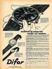 PUBLICITE ADVERTISING 025  1960  DIFOR AUTOMATIC  collection montres