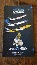 2016 STAR WARS CELEBRATION EUROPE ANA JAPAN PROMO CARD STICKER BB-8 R2-D2 C-3PO