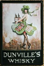 DUNVILLE'S WHISKY Vintage Advert - Irish Pub Sign
