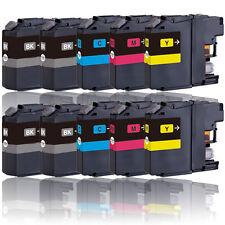 10x Tinte Patronen Druckerpatronen für BROTHER LC121BK LC121C LC121M LC121Y