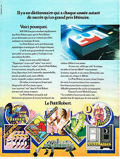 PUBLICITE ADVERTISING 014   1972   LE PETIT ROBERT  dictionnaire