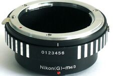 Nikon G AF-S Lens to Micro 4/3 M43 Mount Adapter G3 EP3 GX1 OM-D E-M5 AIG-M43