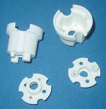 Set of 2 White Pop Bumper Bodies & Bases For Pinball Machines