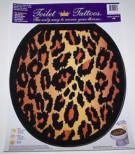 Factory New Toilet Tattoo Bathroom Toilet Decal Leopard Animal Print Elongated