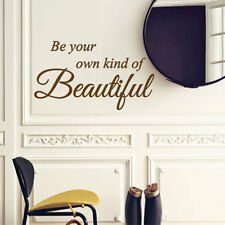 Be your own kind of belle salle de bain art wall stickers citation wall decals 43
