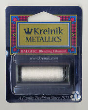 Kreinik Blend - 55Yd Spool of #100 White Metallic Blending Filament