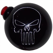 Punisher Skull Push Button side mount black shift knob for line loc, nitrous NOS