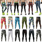 Men's Camo Sports GYM Compression Long Pants Athletic Tights Running Trousers