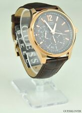 FREE Ship USA Unisex Men Watch GUESS Brown Leather Classic U10627G1 Lovely