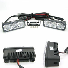 12V 3 LED White High Power Car DRL Daytime Running Light Fog Lamp Universal mh