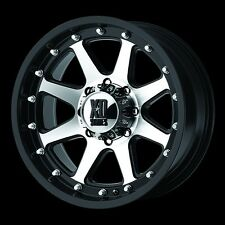 18 Inch Black Silver Wheels Rims Chevy 2500 3500 HD Dodge RAM Ford Truck 8 Lug