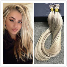 Straight Pre Bonded I Tip Human Hair Extensions Keratin Remy Hair Blonde 50s Hot
