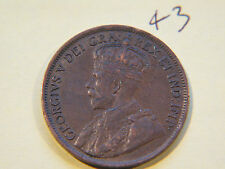#10,1917 Canada, Canadian Large Cent Coin , Canadian One Cent