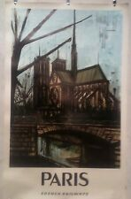 AFFICHE  ANCIENNE   PARIS BERNARD BUFFET 1963
