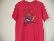 Junk Food DC Comics This is a job for SUPERMAN Heather Red Tee Shirt