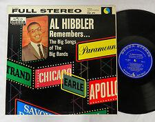 AL HIBBLER REMEMBERS THE BIG SOUNGS OF THE BIG BANDS  DECCA  RECORD ALBUM LP