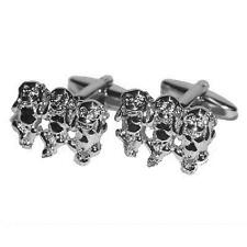 3 Monkeys Cufflinks Hear See Speak No Evil Cruise Party Formal Present Gift Box