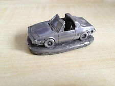 New Fiat X1/9 1500 cc Pewter Effect Bare Metal Scale Model Car 1:92